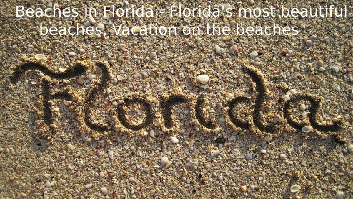 Beaches in Florida – Florida's most beautiful beaches, Vacation on the beaches