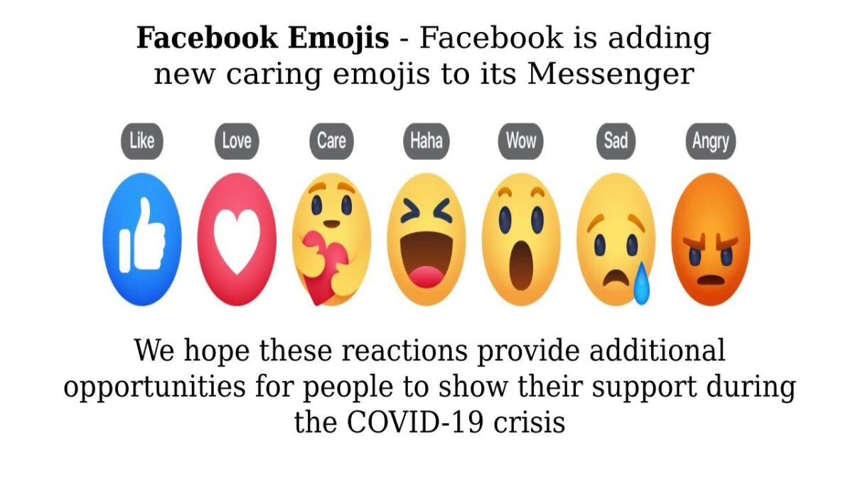 """Facebook Emojis – Facebook is adding new """"caring"""" emojis to its main app and Messenger"""