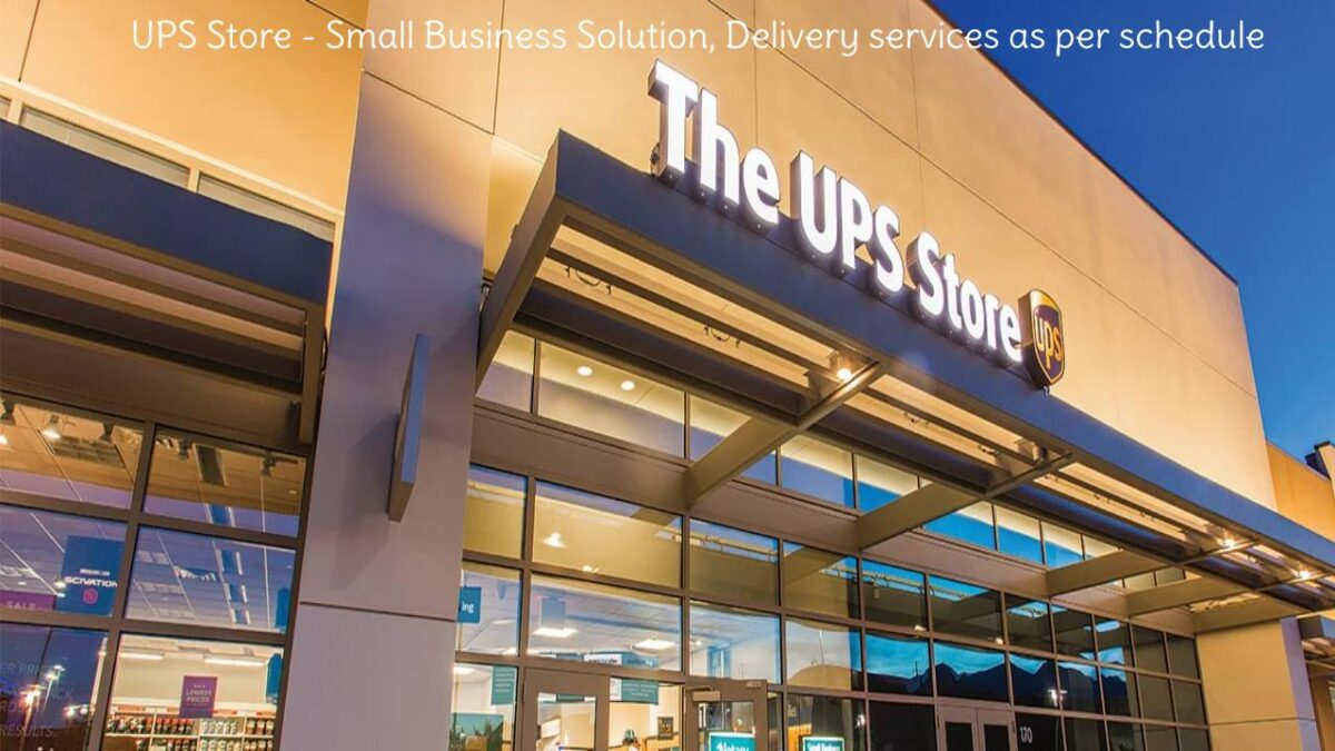 UPS Store – Small Business Solution, Delivery services according to your schedule