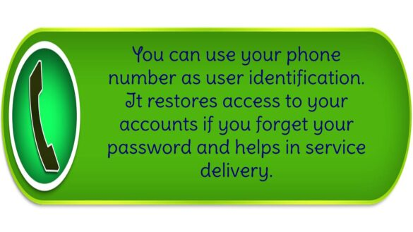 Use your phone number