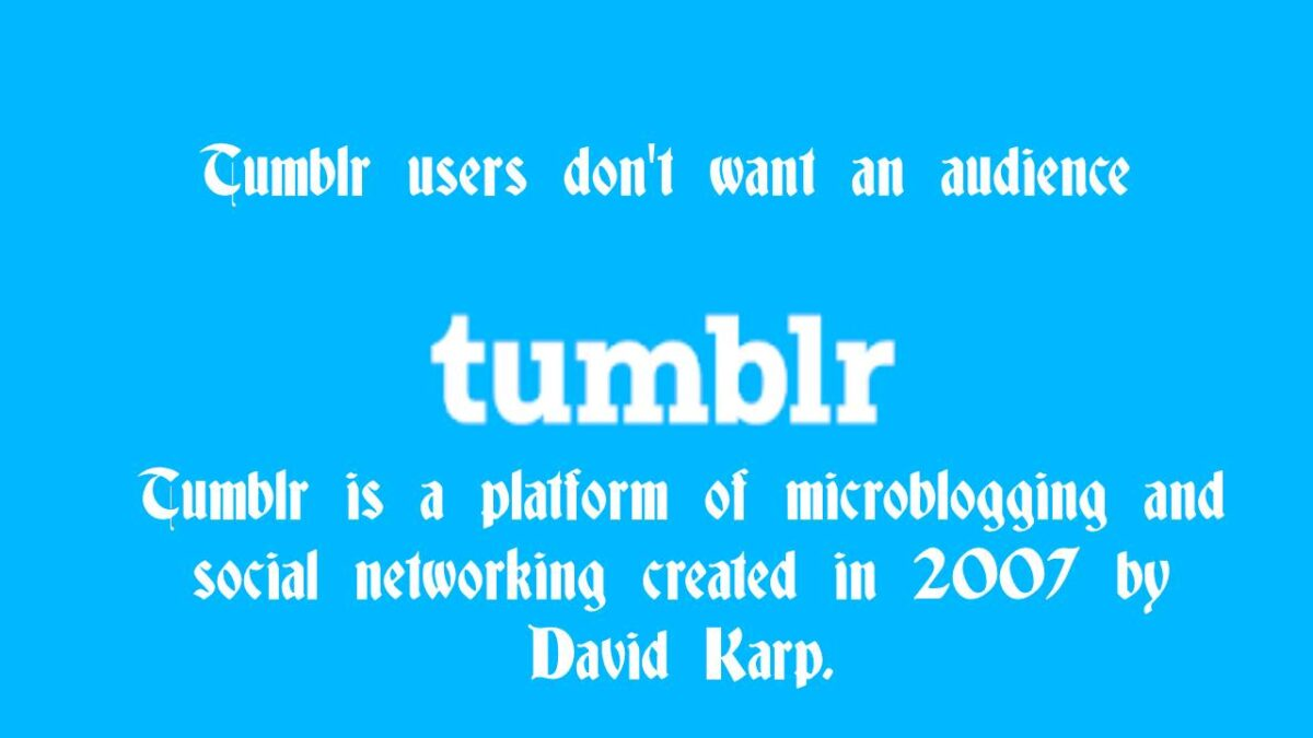 Tumblr – Who uses Tumblr? Features, Tumblr's content falls into three categories